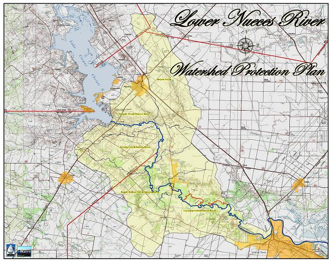 Maps Nueces River Map on